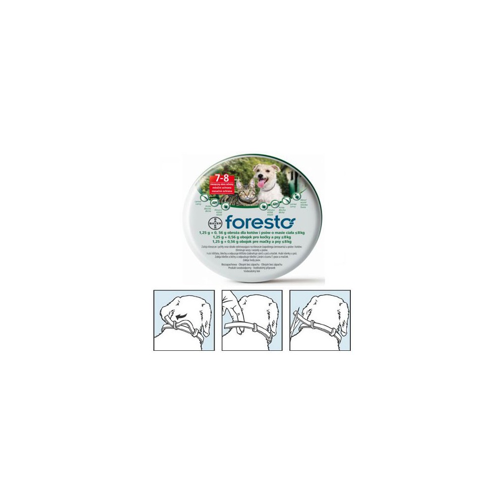 Foresto collar for dogs of less than 8 kg