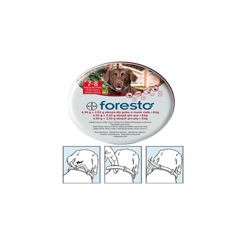 Foresto collar for a dog weighing powyżej8 kg