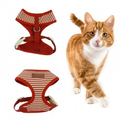Harness for a cat - striped - Marine