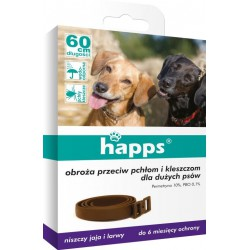 Happs collar for fleas and ticks for a large psa60cm