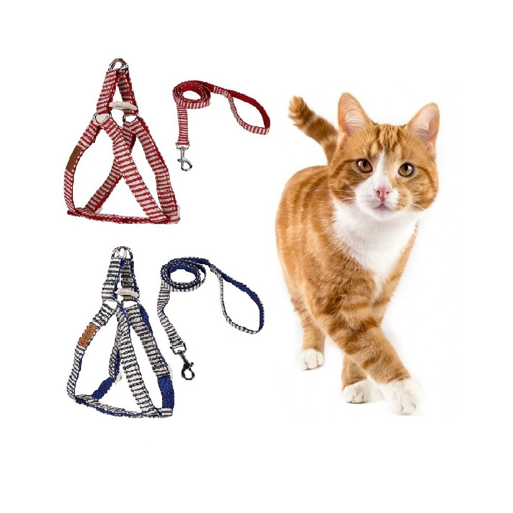 Soft Harness with bow Cat Sailor