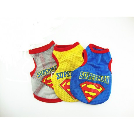 Superman T-shirt for a dog