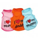 "Dog T-shirt - ""I love my mommy"""