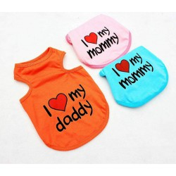 Koszulka dla psa - I love my mommy, I love my daddy
