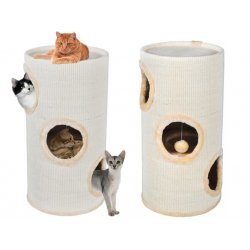 Scratching Cat tube 70 cm ecru
