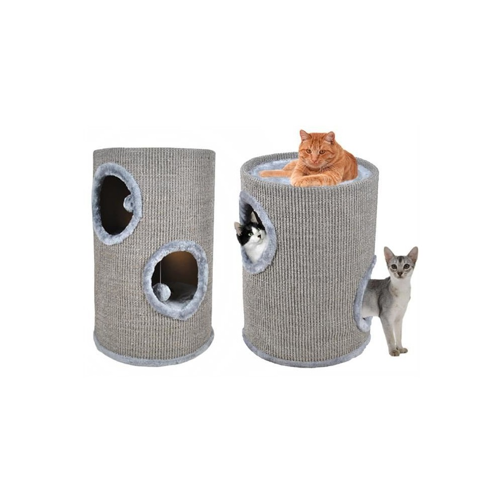 Scratching Cat gray tube 50 cm