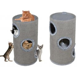 Scratching Cat gray tube 70 cm