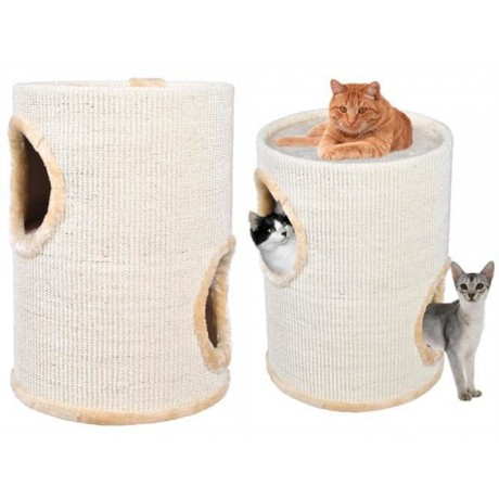 Scratching Cat tube 50 cm ecru