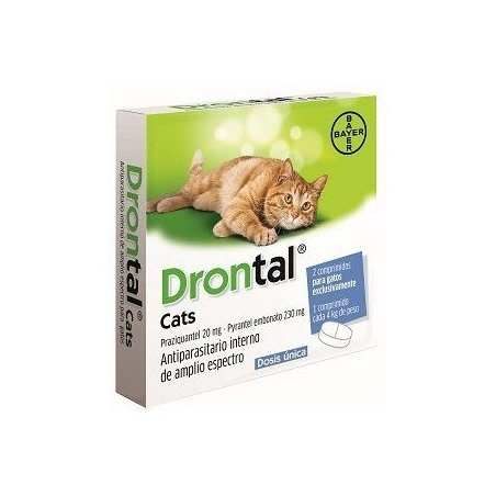 Bayer DRONTAL for cats deworming 2pcs