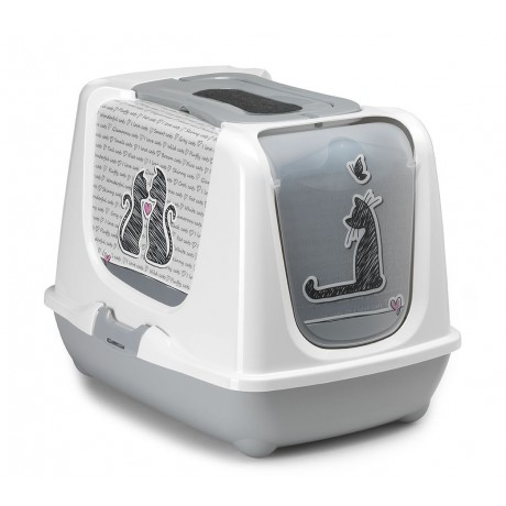 Litter box with filter Love Cat