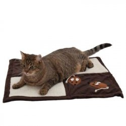 Patchwork mat for a cat scratching