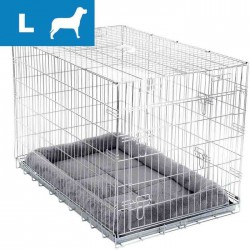 The cage for the transport dog puppy large