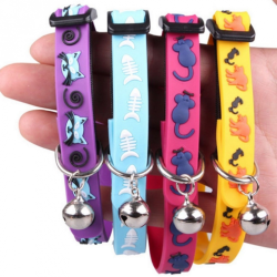 Silicone chokers with bell for cats