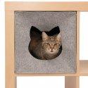 Domek dla kota do regału filcowy