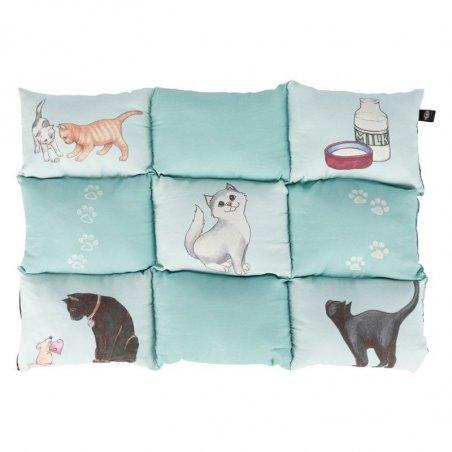 Poduszka Patchwork dla kota miętowa