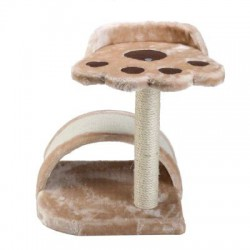 Scratching cat tree ecru 55 cm