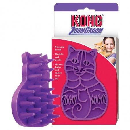 Szczotka Kong do czesania i masażu dla kota