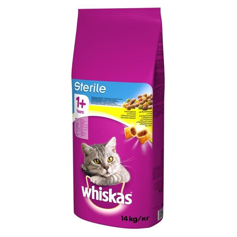Whiskas 1+ Sterile z kurczakiem 14 kg