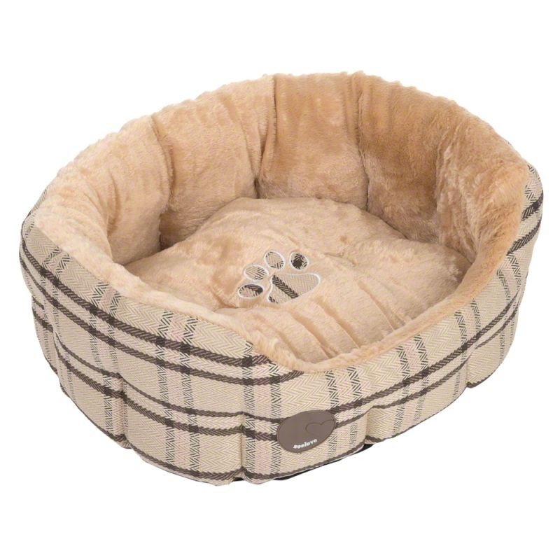 Bed for dog, cat XS with backrest