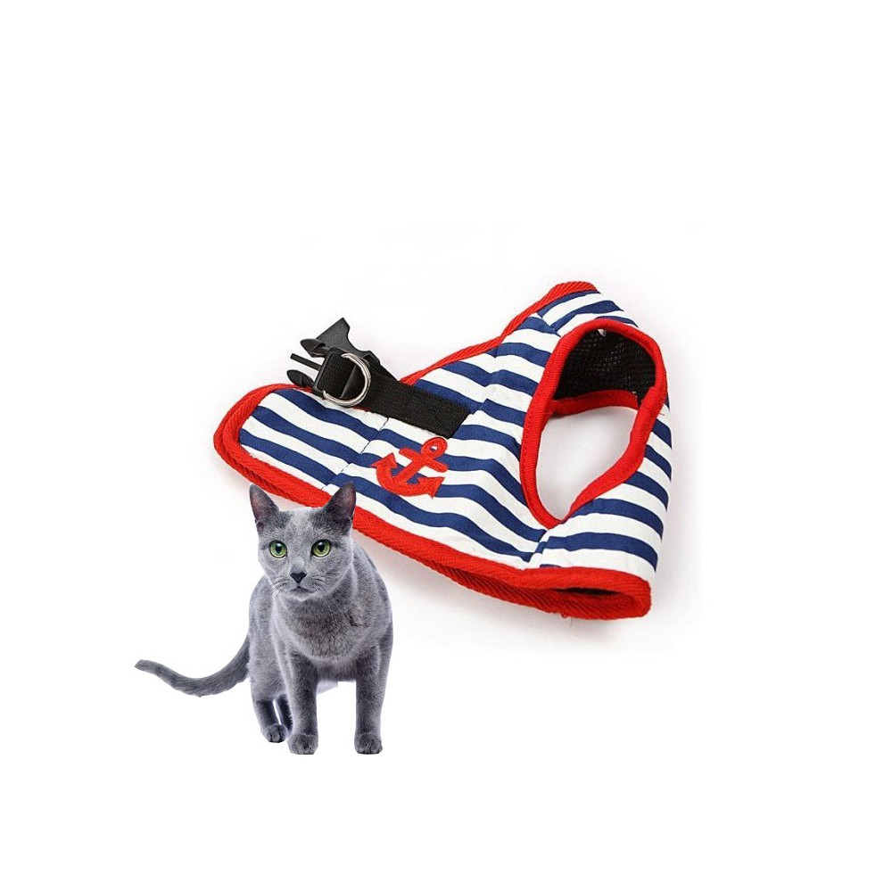 Comfortable harness cat with bow