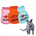 Koszulka dla kota love my daddy