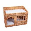 Domek, legowisko wiklinowe dla kota