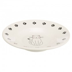 Bowl slows dog food, cat