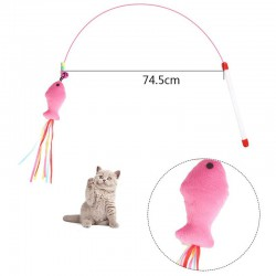 Feathers cat toy on a stick