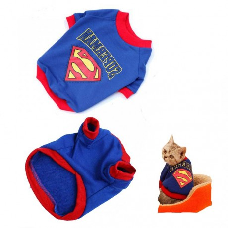 Costume for a cat - sweatshirt Superman