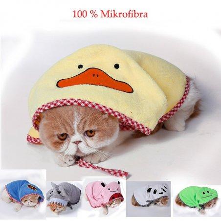Szlafrok ręcznik dla kota