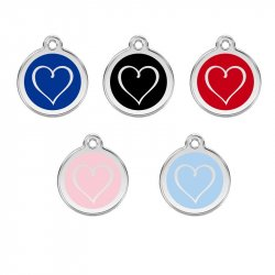 ID Tag Heart engraved
